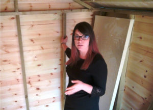 How to insulate a shed - Creating the cavities