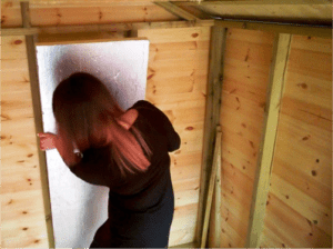 Hot to insulate a shed - Cut to size and slot into place