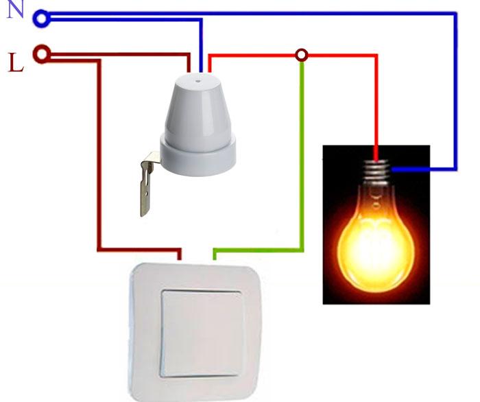 подключение фотореле через выключатель параллельно стоит консультации