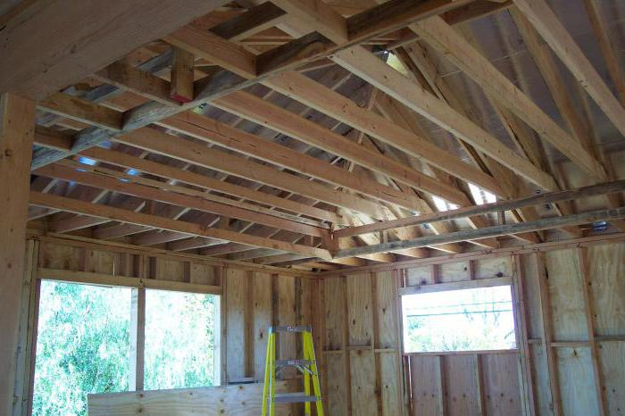 fastening the rafters to the joists with a nail